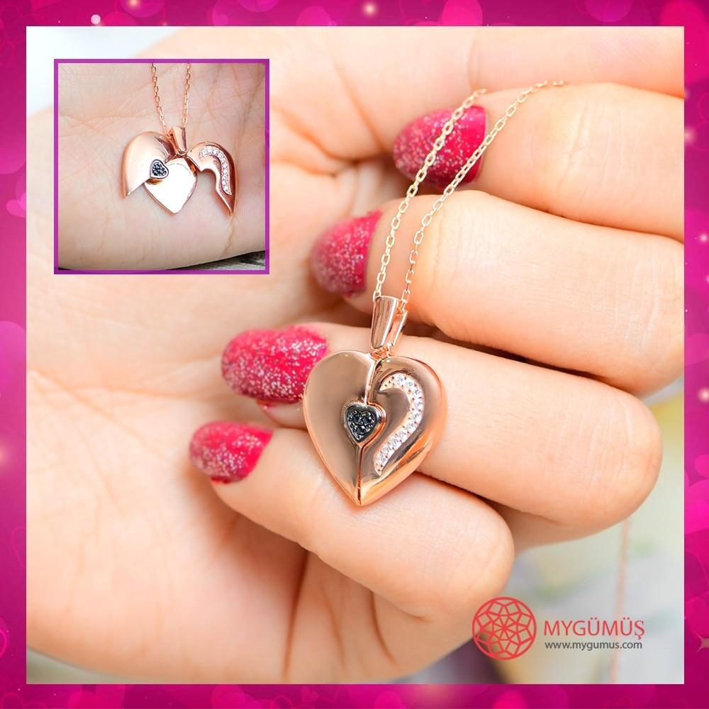 Özel Tasarım İsimli Kalp Kolye MY0301043R 10691 Thumb