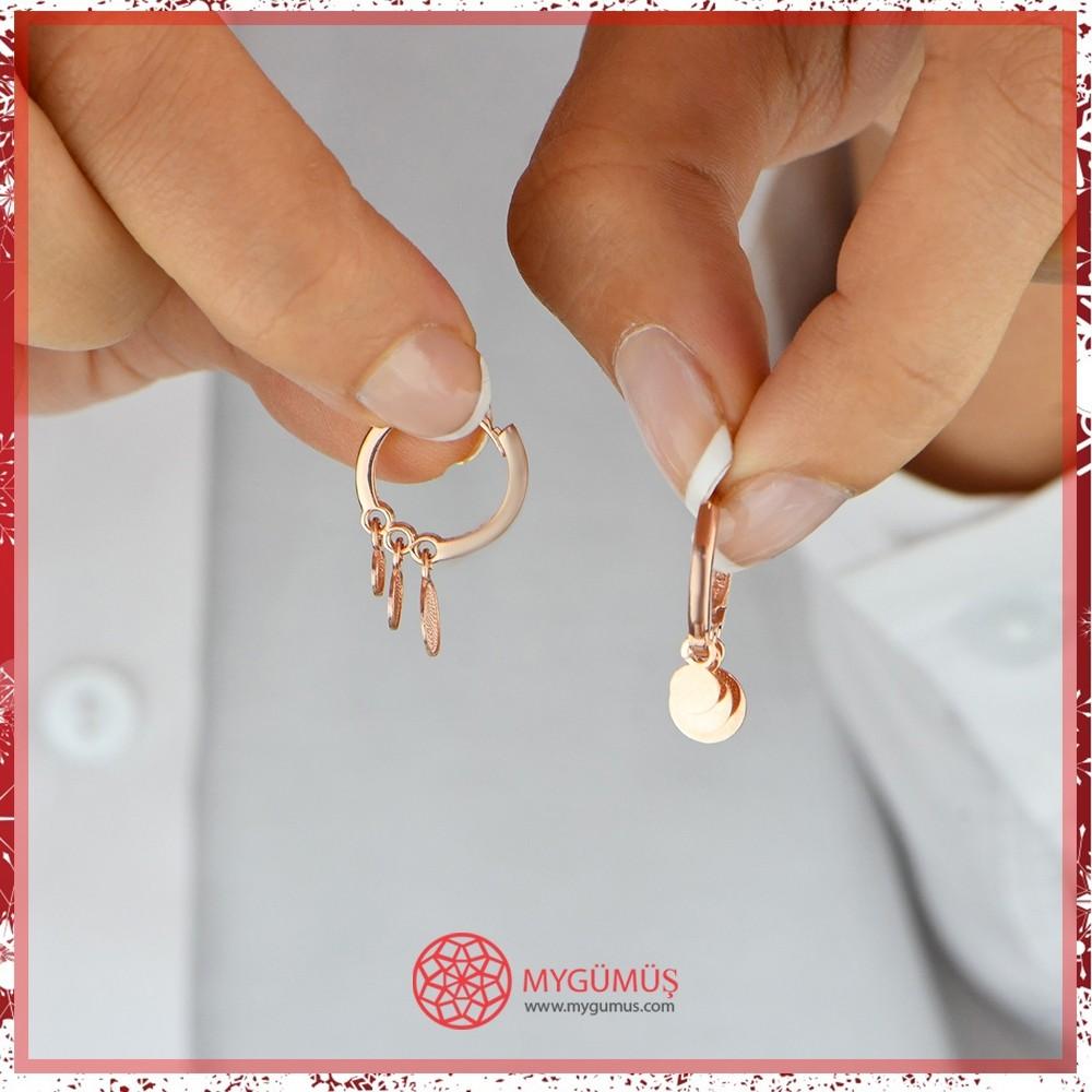 Özel Tasarım Halkalar Gümüş Küpe MY100107 10570 Thumb
