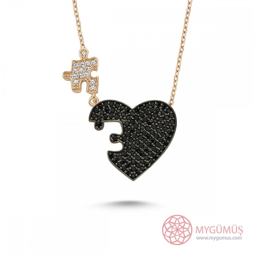 Kalbimin Parçası Puzzle Gümüş Kolye MY0301054S 7619 Thumb