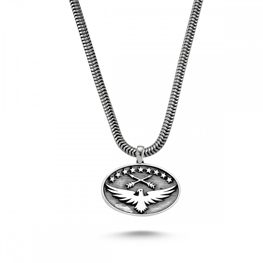 Kartal Sembol Erkek Gümüş Kolye MY01025 5746 Thumb