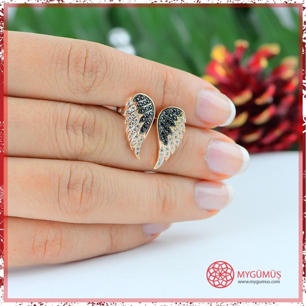 Zirkon Taşlı Kanat Gümüş Küpe MY102008 10571 Thumb