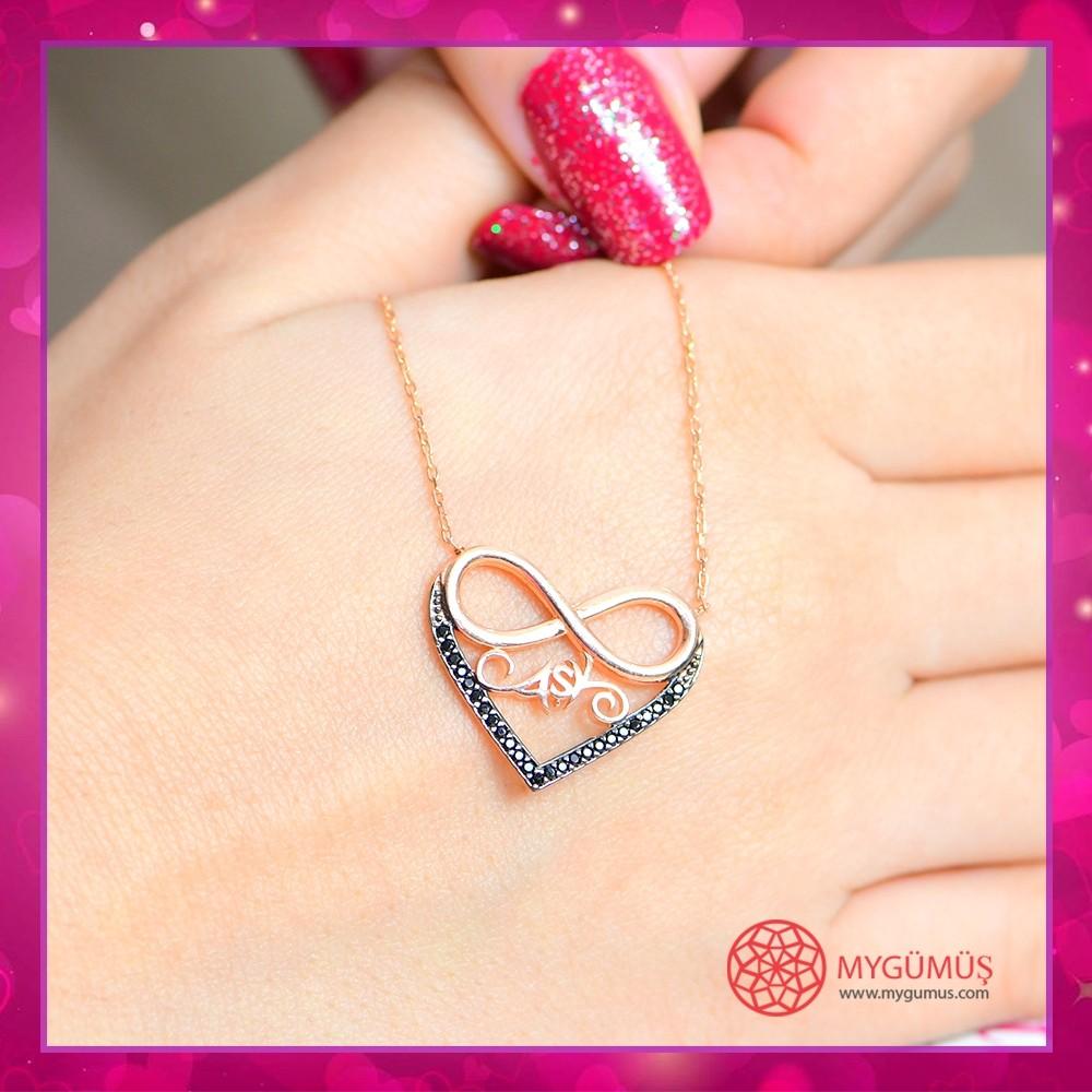 Aşk Yazılı Sonsuzluk Gümüş Kolye MY100075 10697 Thumb