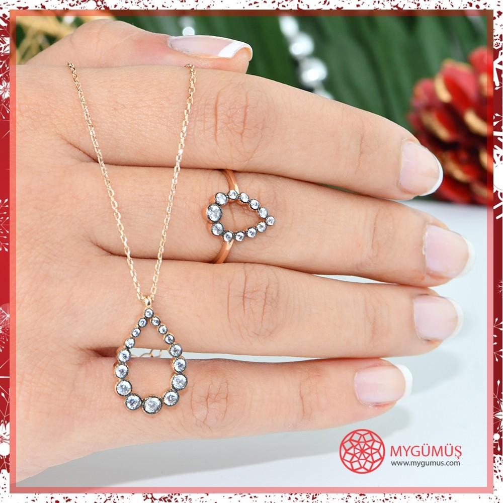 Elmas Montür Damla Gümüş Set MY003001 10573 Thumb