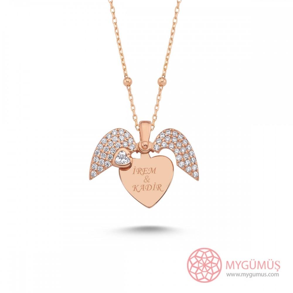 İsme Özel Sihirli Kalp Gümüş Kolye MY101726 10195 Thumb