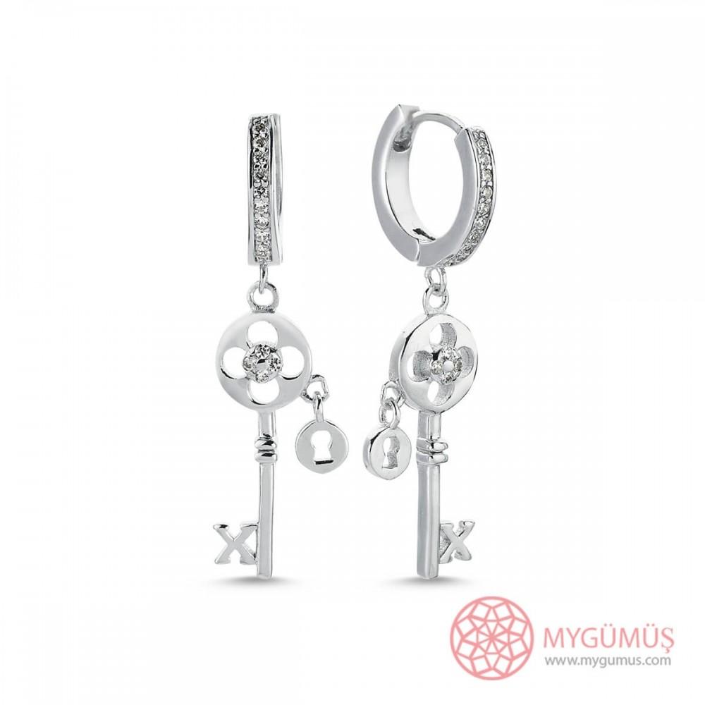 Anahtar Sallantılı Gümüş Küpe MYG31 9595 Thumb