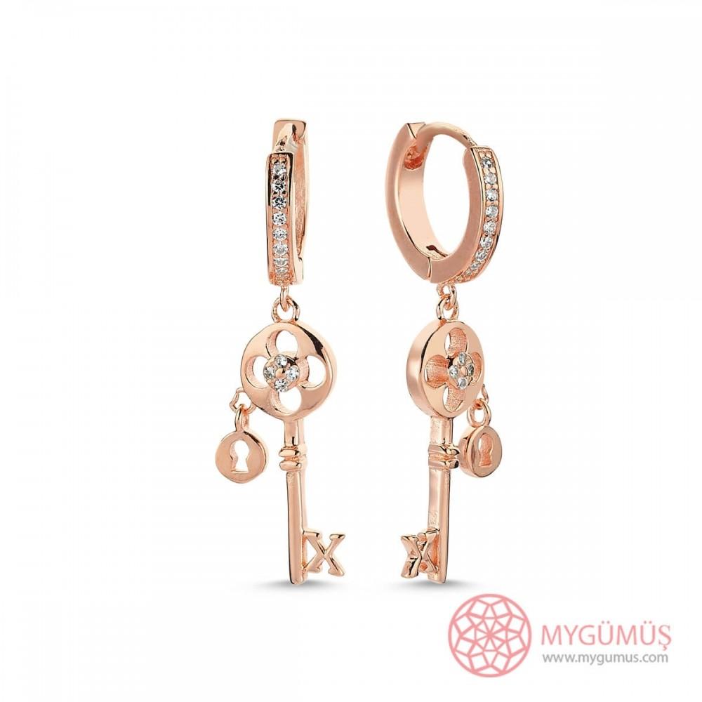 Anahtar Sallantılı Gümüş Küpe MYG30 9594 Thumb