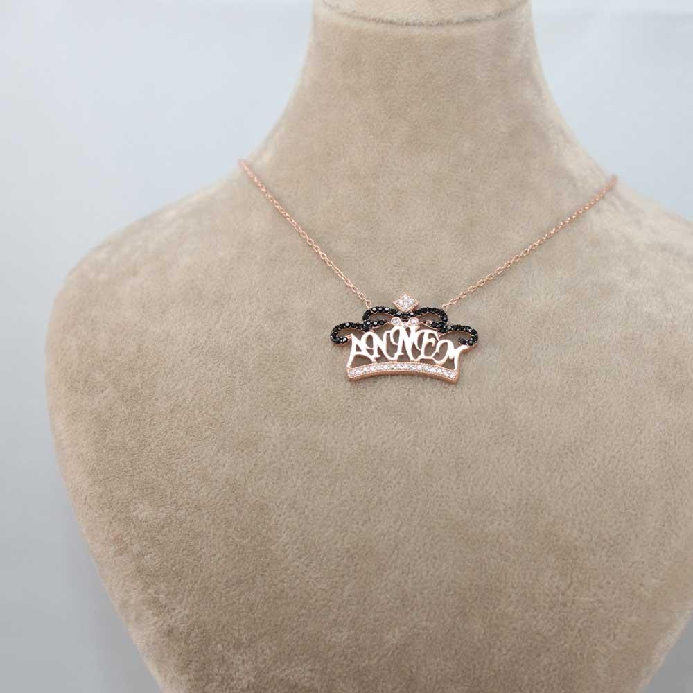 Annem Yazılı Gümüş Taç Kolye MY0301045 7474 Thumb