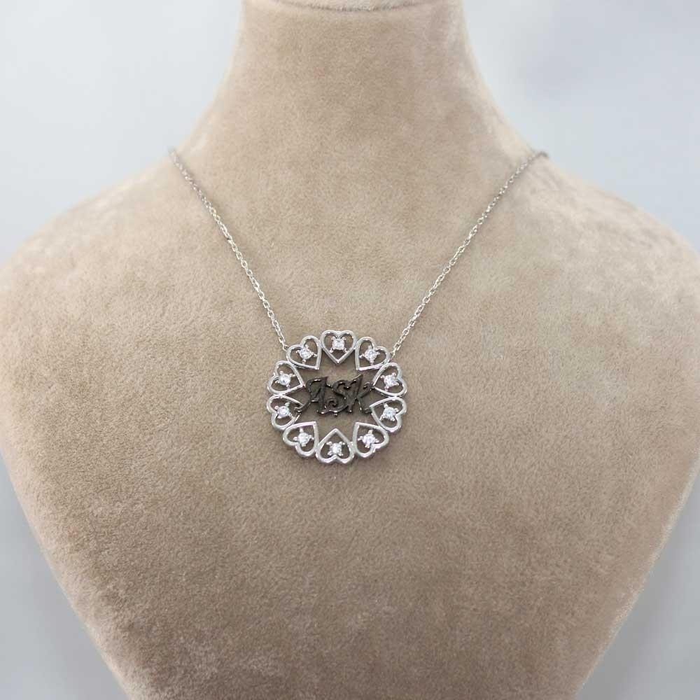 Aşk Yazılı Gümüş Kalpler Kolye MY100111 7917 Thumb