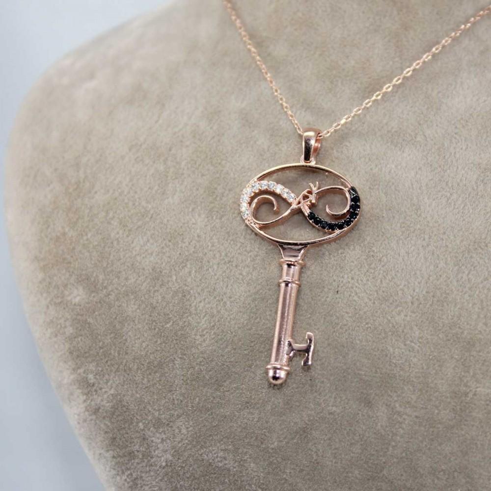 Aşkın Anahtarı Gümüş Kolye MY101126 8678 Thumb