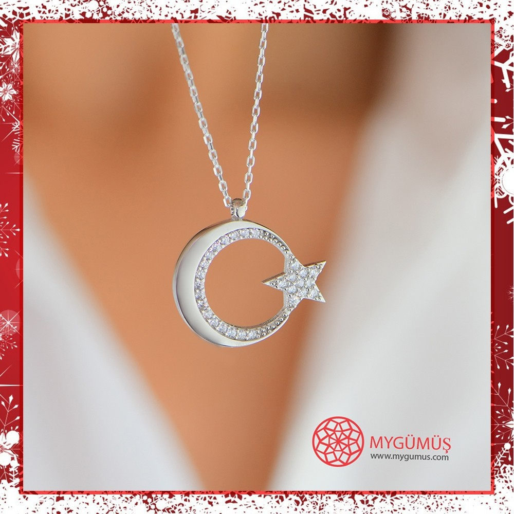 Ay Yıldız Argento Gümüş Kolye MY101663 11526 Thumb