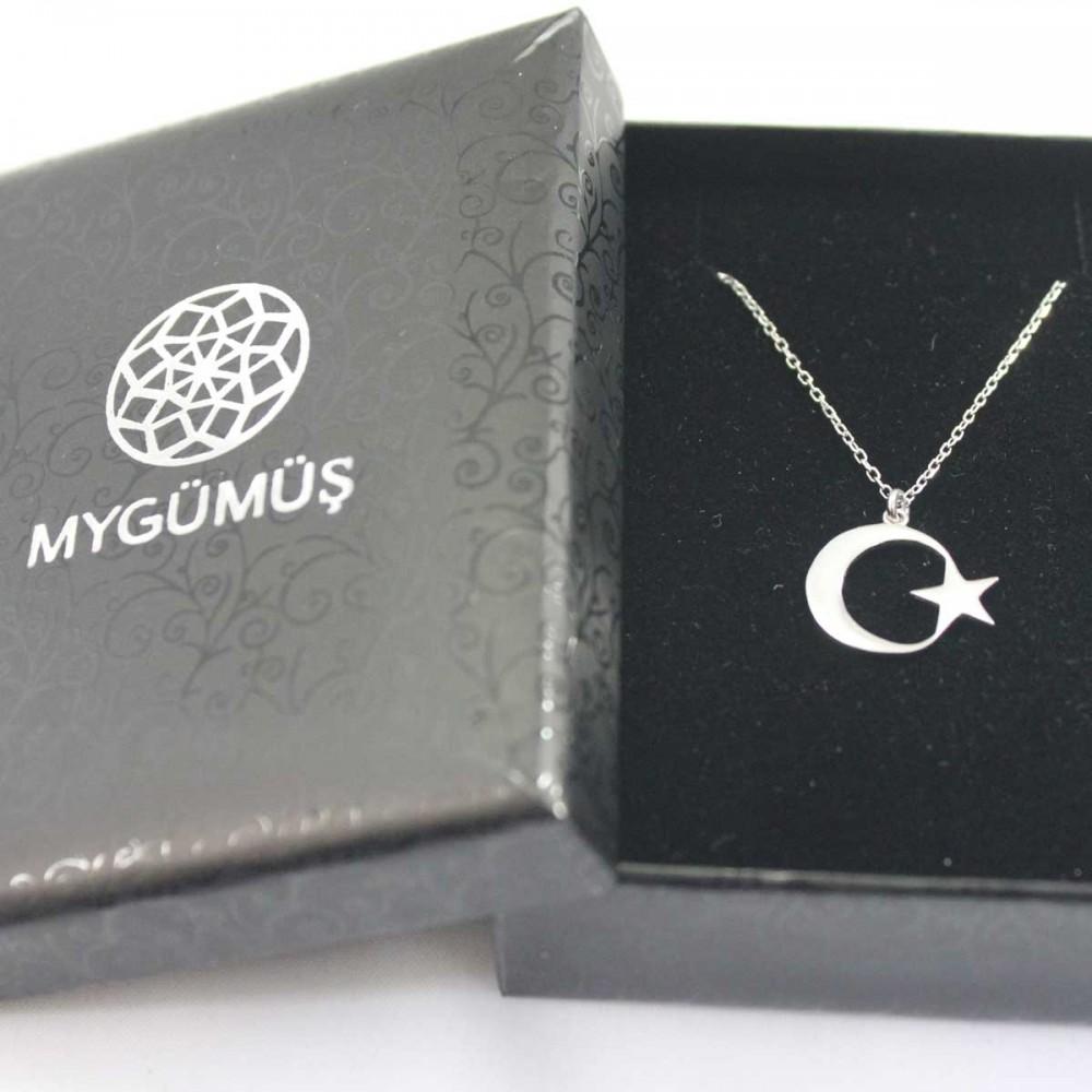Ay Yıldız Gümüş Kolye MY101190 8697 Thumb