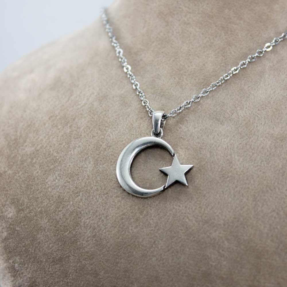 Ay Yıldız Gümüş Kolye MY01022 7778 Thumb