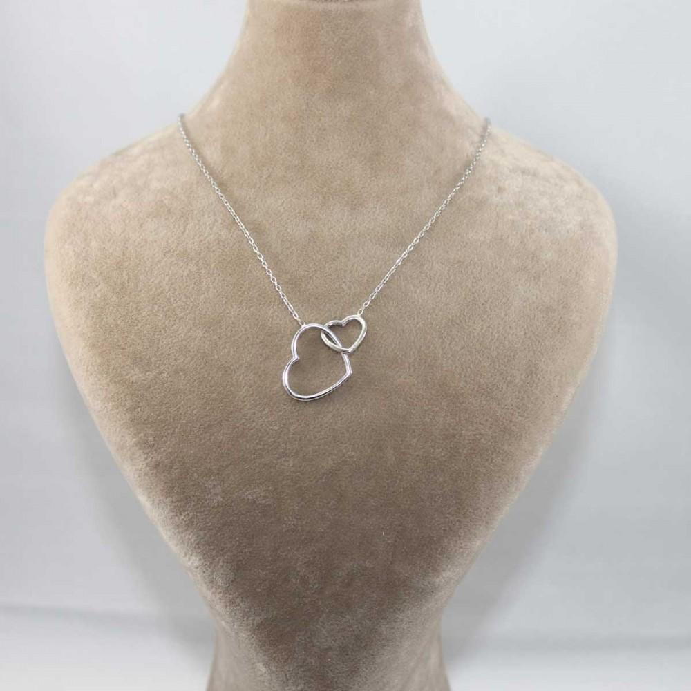 Bağlanmış Kalpler Gümüş Kolye MY101189 8639 Thumb