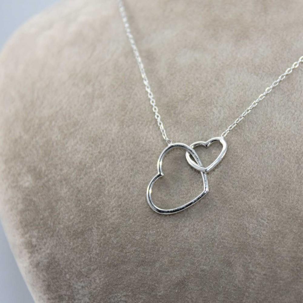 Bağlanmış Kalpler Gümüş Kolye MY101189 8638 Thumb