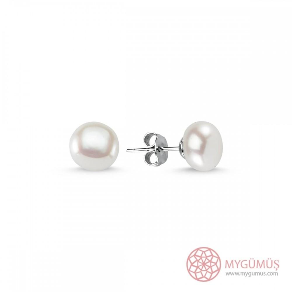 Bayan Gümüş İnci Küpe MY90001 8807 Thumb