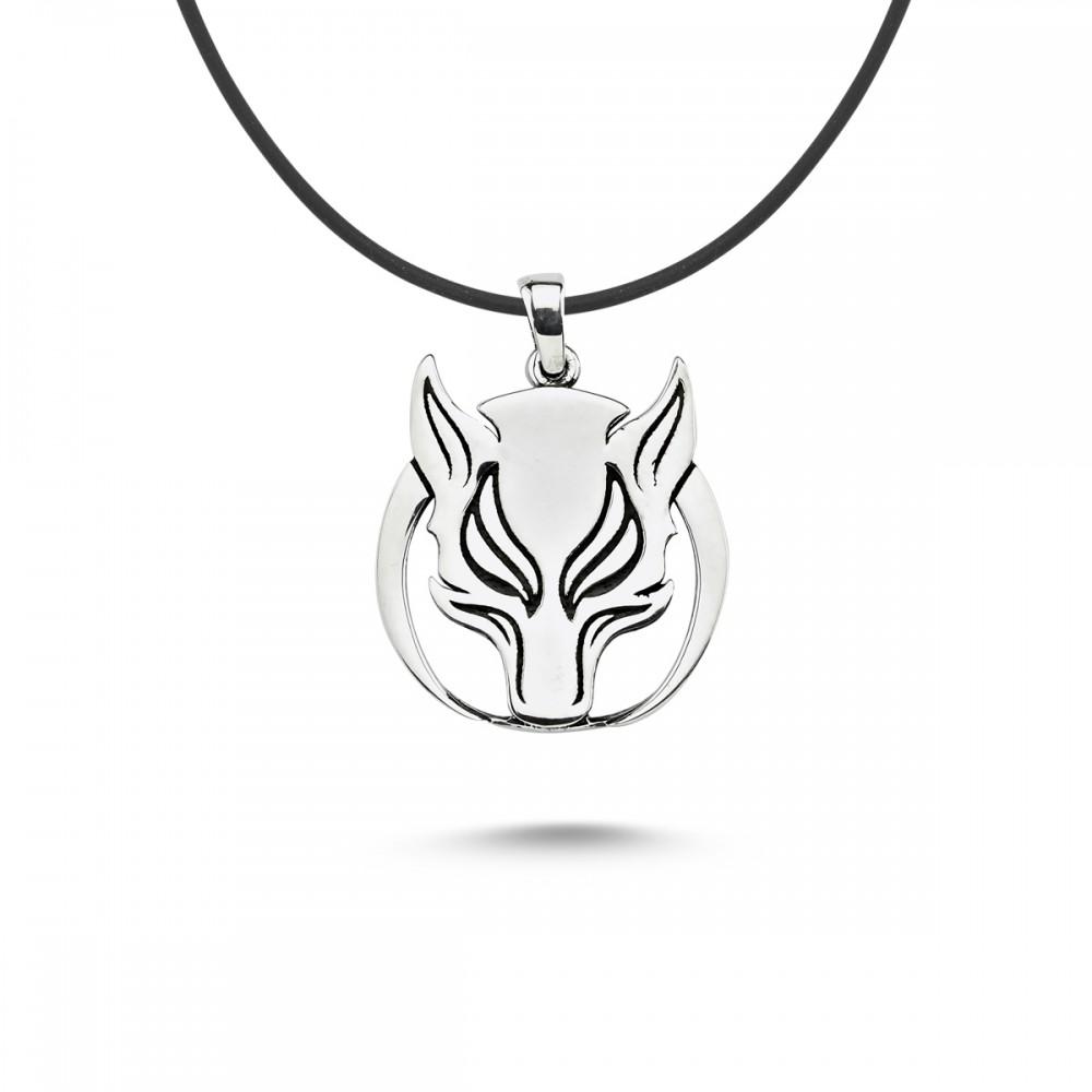Börü Figürlü Gümüş Kolye MY101698 10132 Thumb