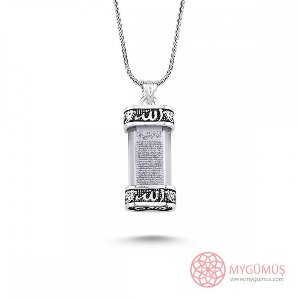 Yeni Model Cevşen Gümüş Kolye MY101407 9642 Thumb