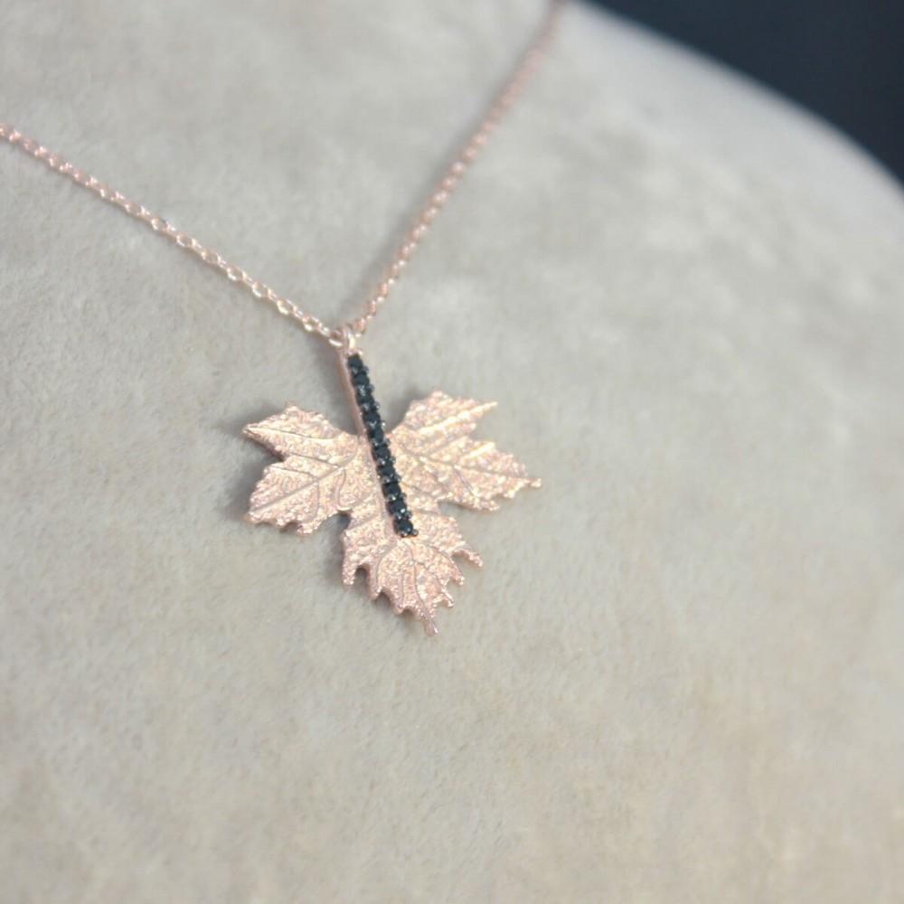 Çınar Yaprağı Gümüş Kolye MY0301046 10280 Thumb