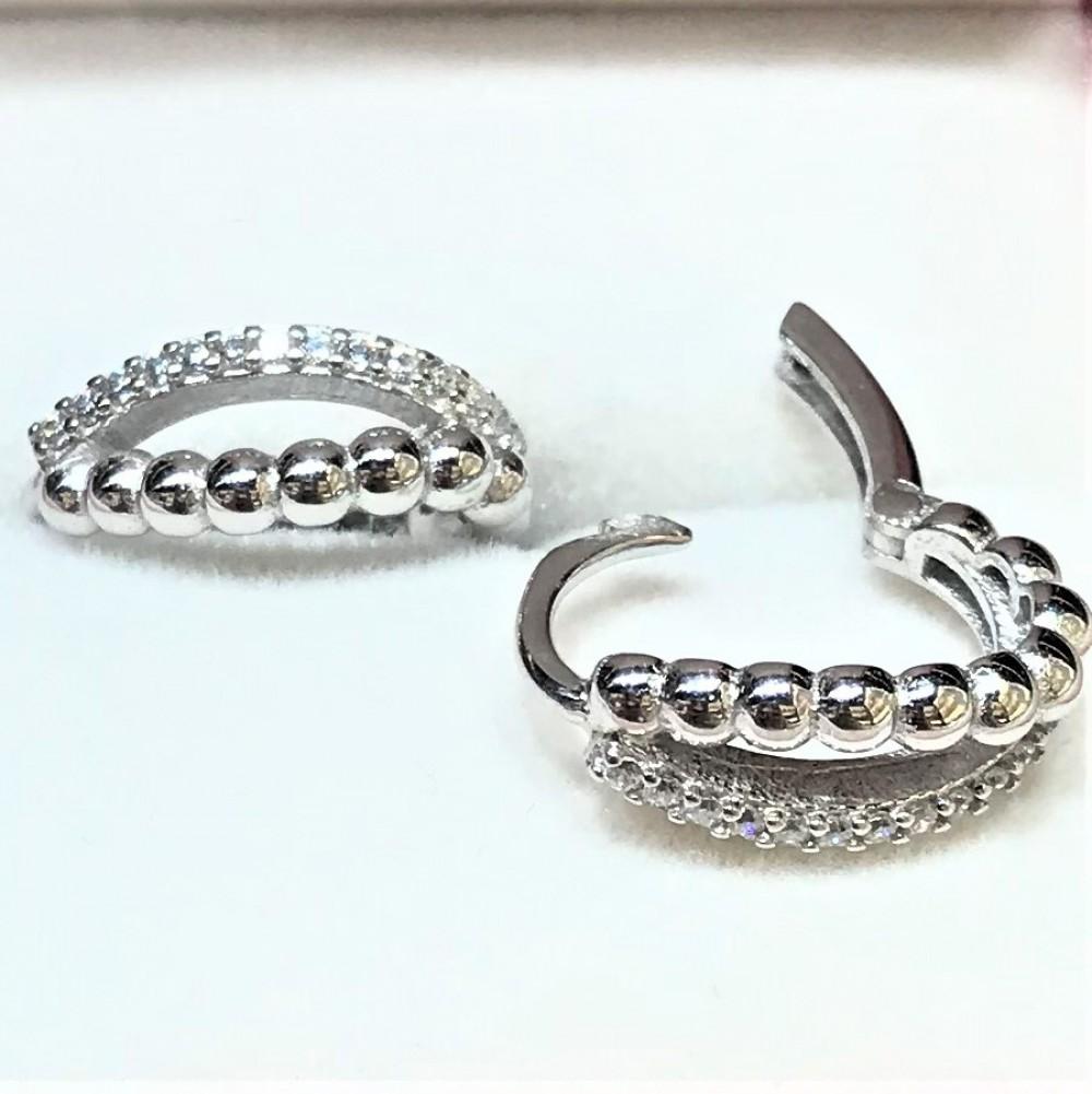 Elmas Montür Tırtıklı Gümüş Küpe MY100099 14299 Thumb