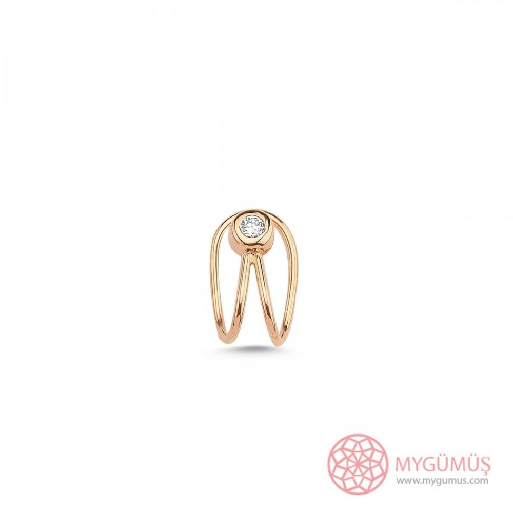 Elmas Kesim Tektaş Kıkırdak Gümüş Küpe MYG41 9980 Thumb