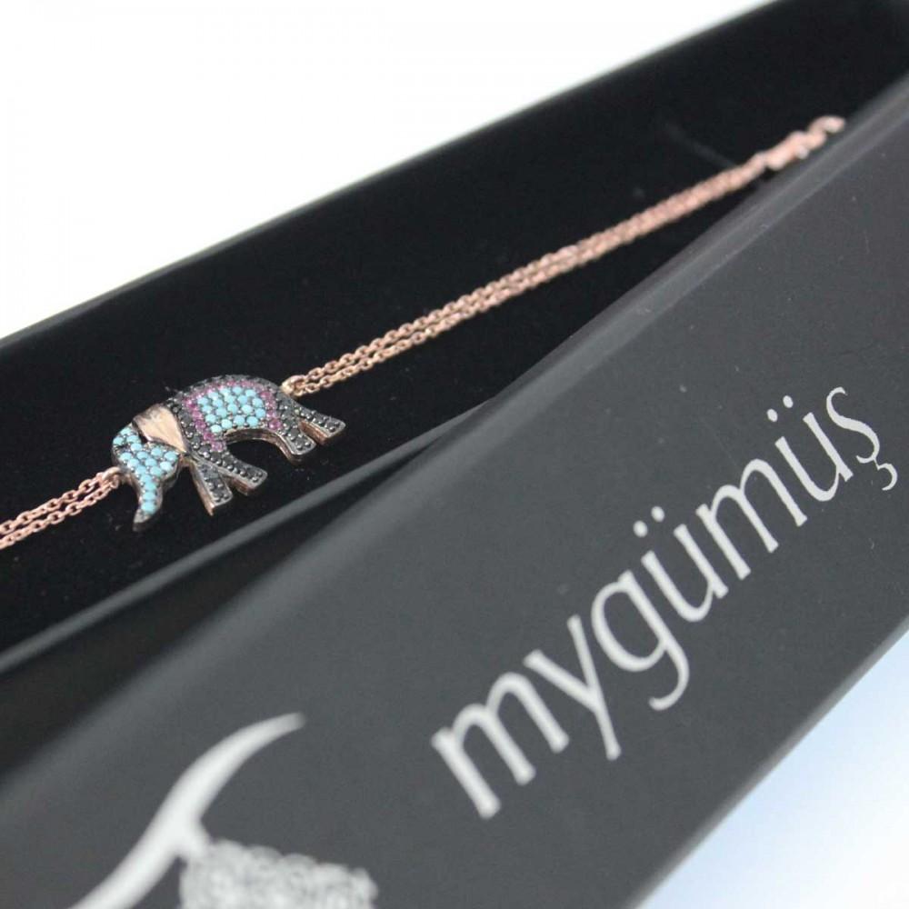 Fil Figürlü Gümüş Bileklik MYB0102 6868 Thumb
