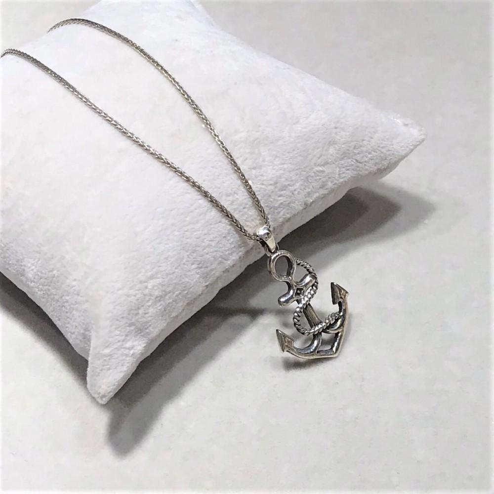 Gemi Çapası Erkek Gümüş Kolye MY01021 12190 Thumb