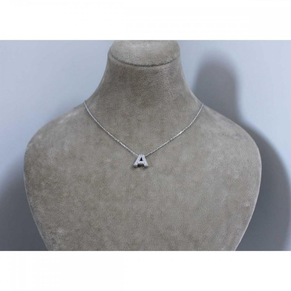Zirkon Taşlı Gümüş Harf Kolye MY100122 6770 Thumb