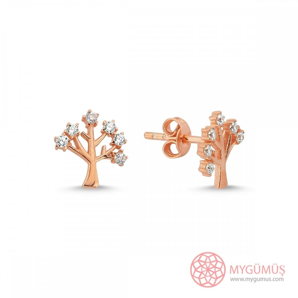 Hayat Ağacı Gümüş Küpe MY101117 10805 Thumb