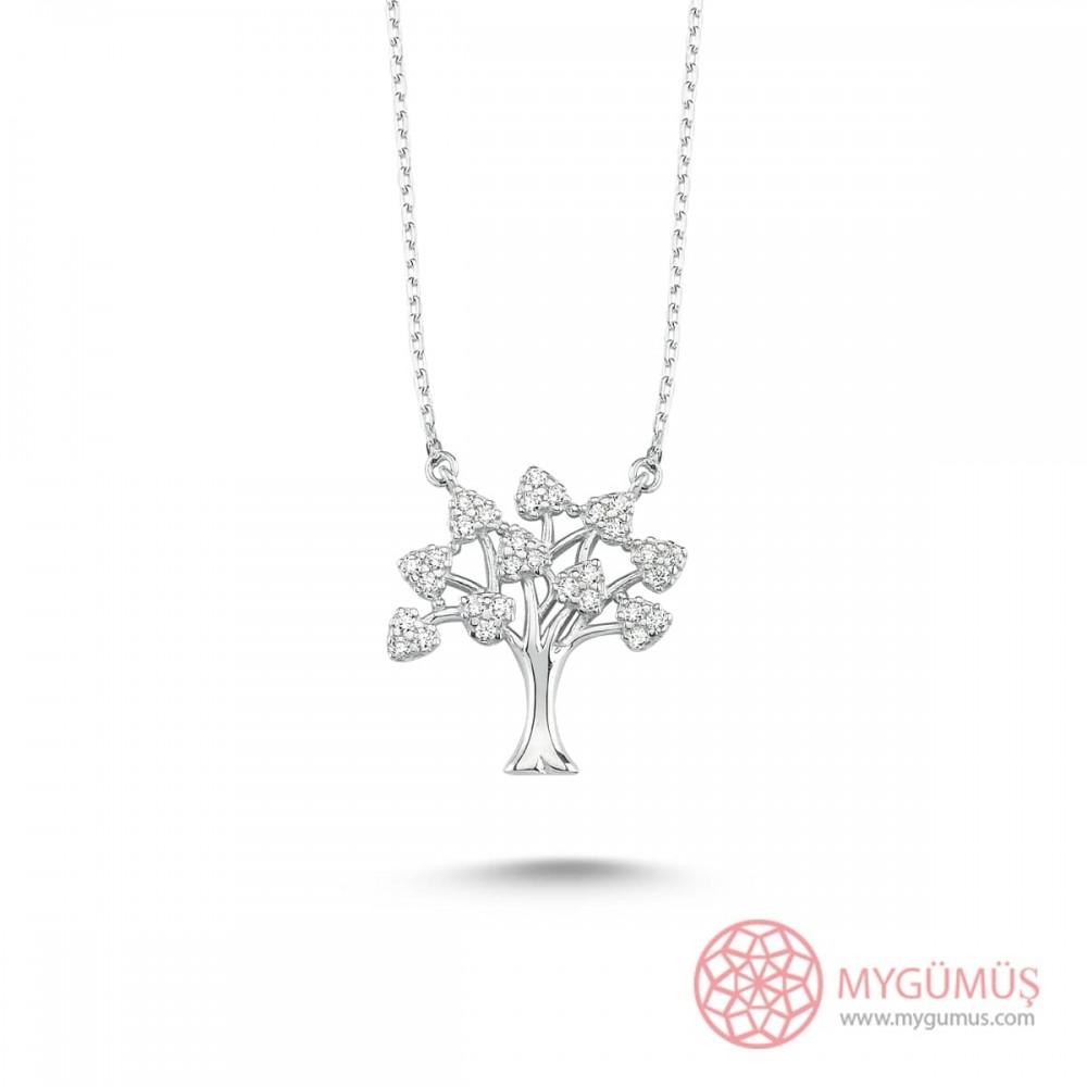 Hayat Ağacı Gümüş Kolye MY101118 9847 Thumb