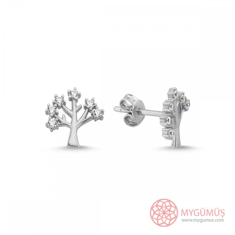 Hayat Ağacı Gümüş Küpe MY101117 10803 Thumb