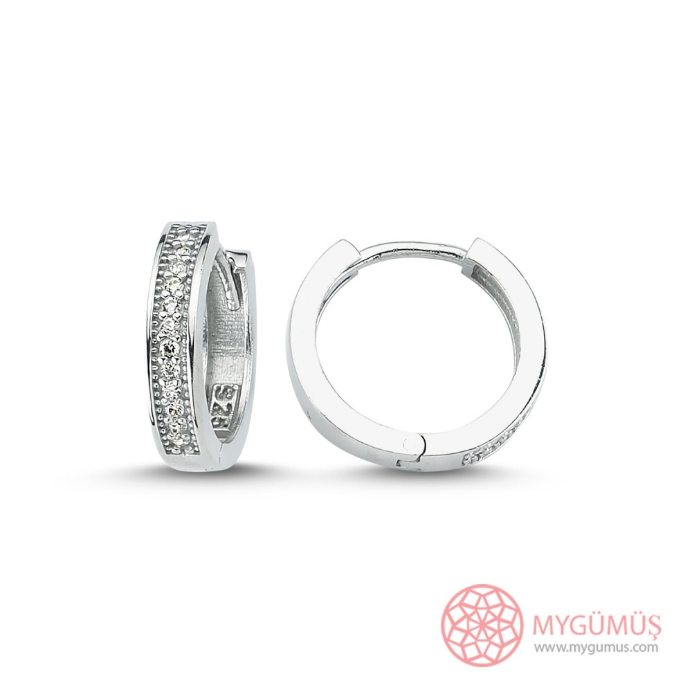 İnce Halka Gümüş Küpe MYG043 9984 Thumb
