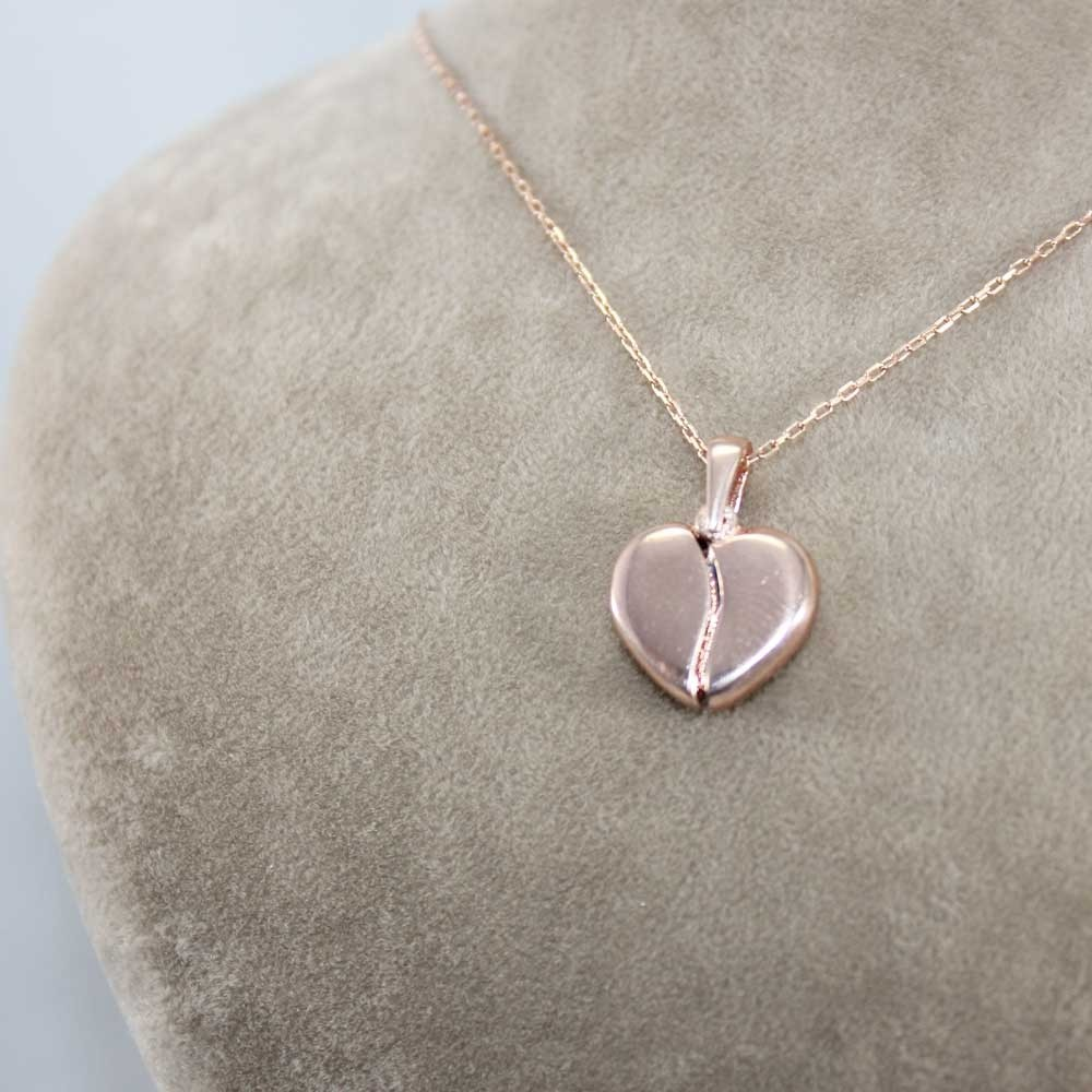 İsim Yazılabilen Gümüş Kalp Kolye MY100128 8158 Thumb