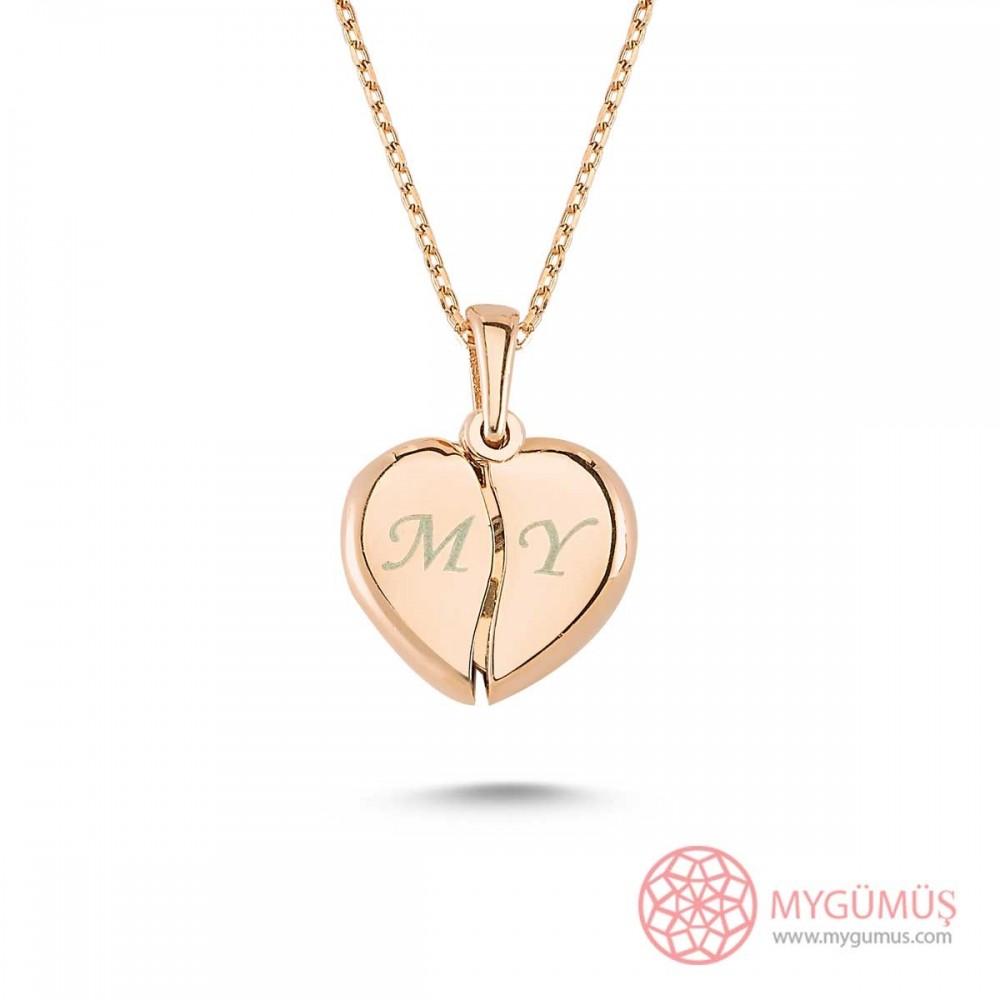 İsim Yazılabilen Gümüş Kalp Kolye MY100128 9451 Thumb