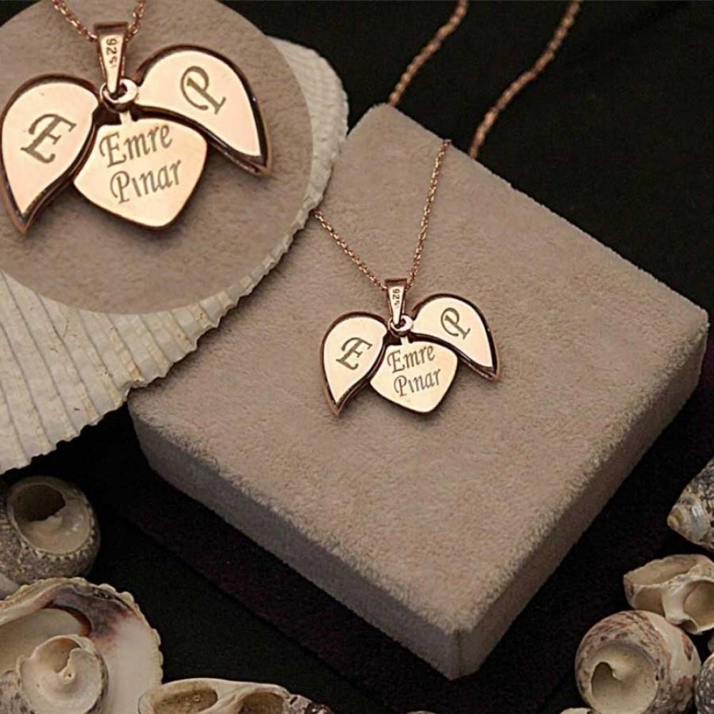 İsim Yazılabilen Gümüş Kalp Kolye MY100128 9452 Thumb