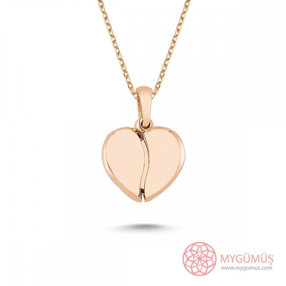 İsim Yazılabilen Gümüş Kalp Kolye MY100128 9453 Thumb