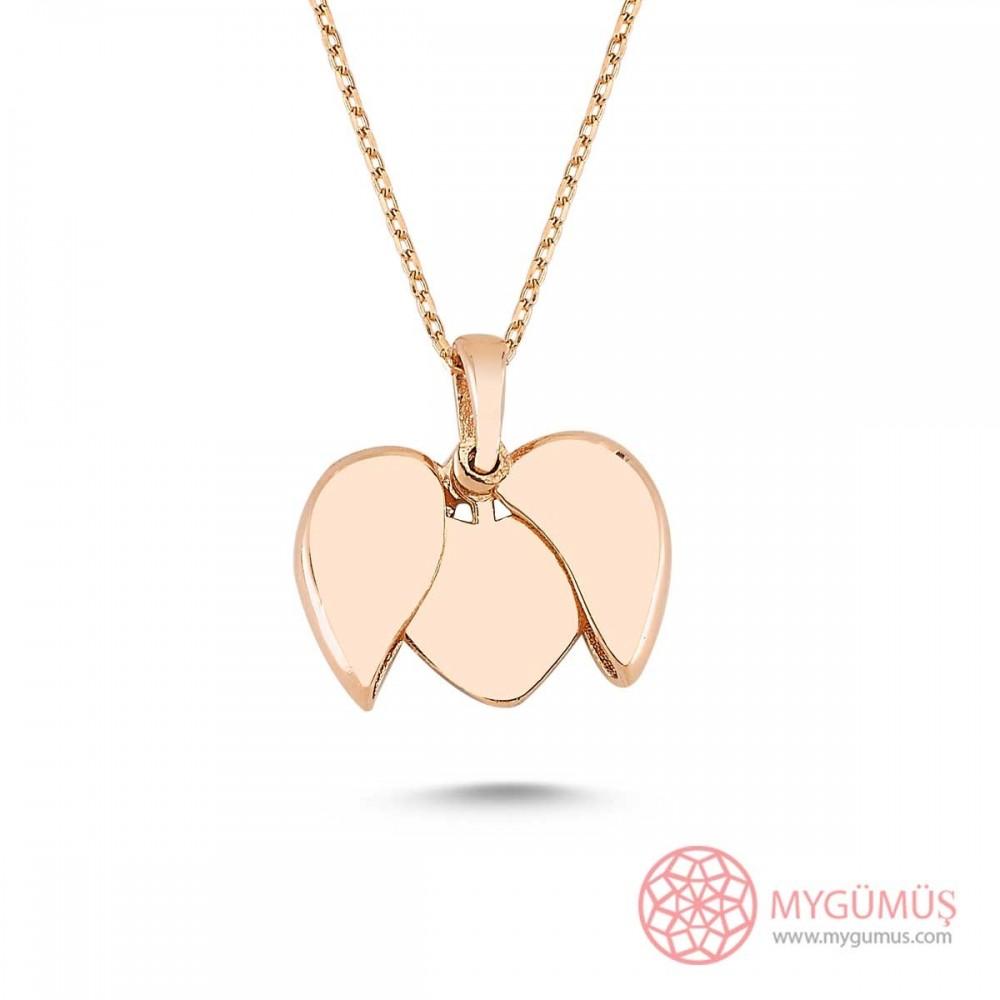 İsim Yazılabilen Gümüş Kalp Kolye MY100128 9454 Thumb