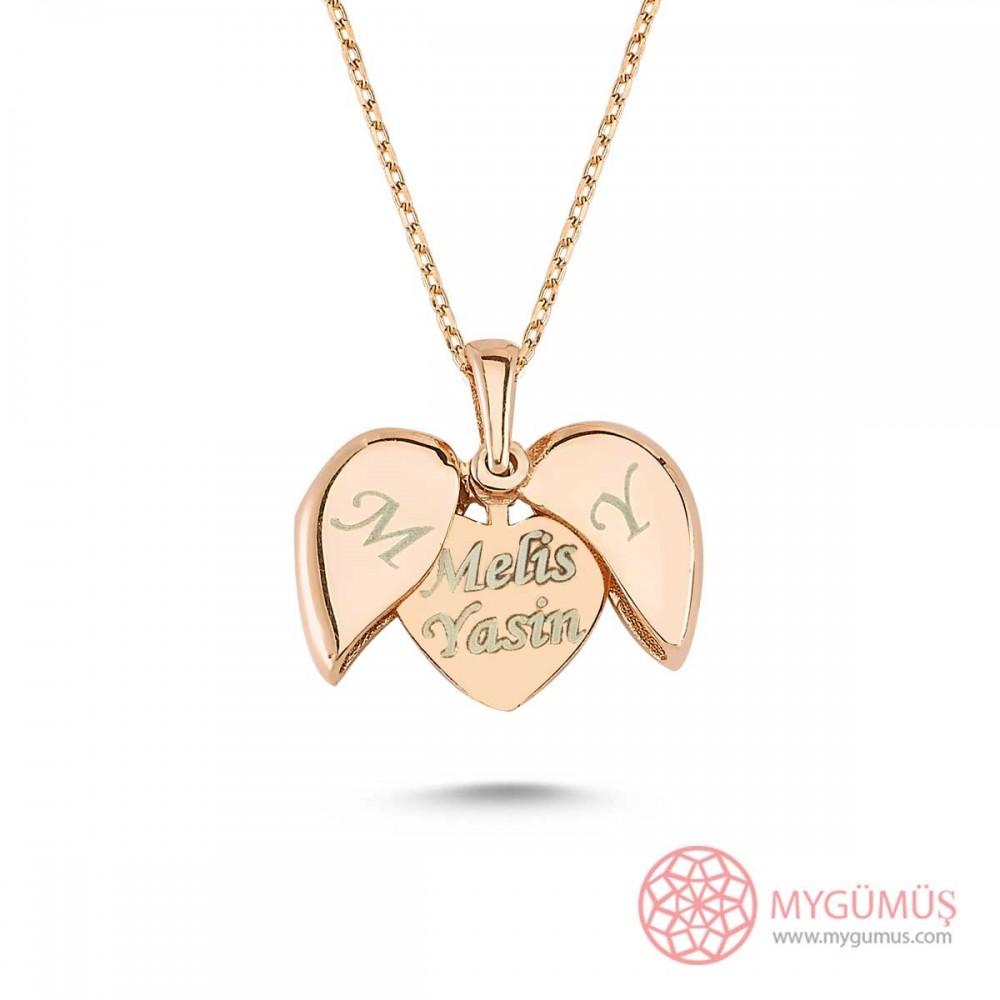 İsim Yazılabilen Gümüş Kalp Kolye MY100128 9455 Thumb