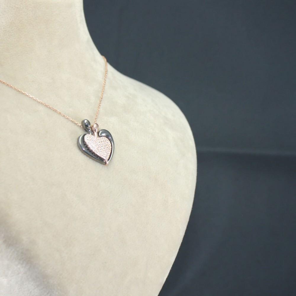 İsme Özel Kalp Amare Gümüş Kolye MY101652 10433 Thumb