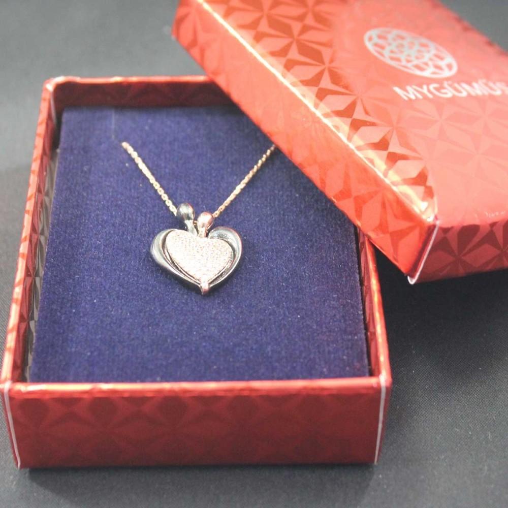 İsme Özel Kalp Amare Gümüş Kolye MY101652 10434 Thumb