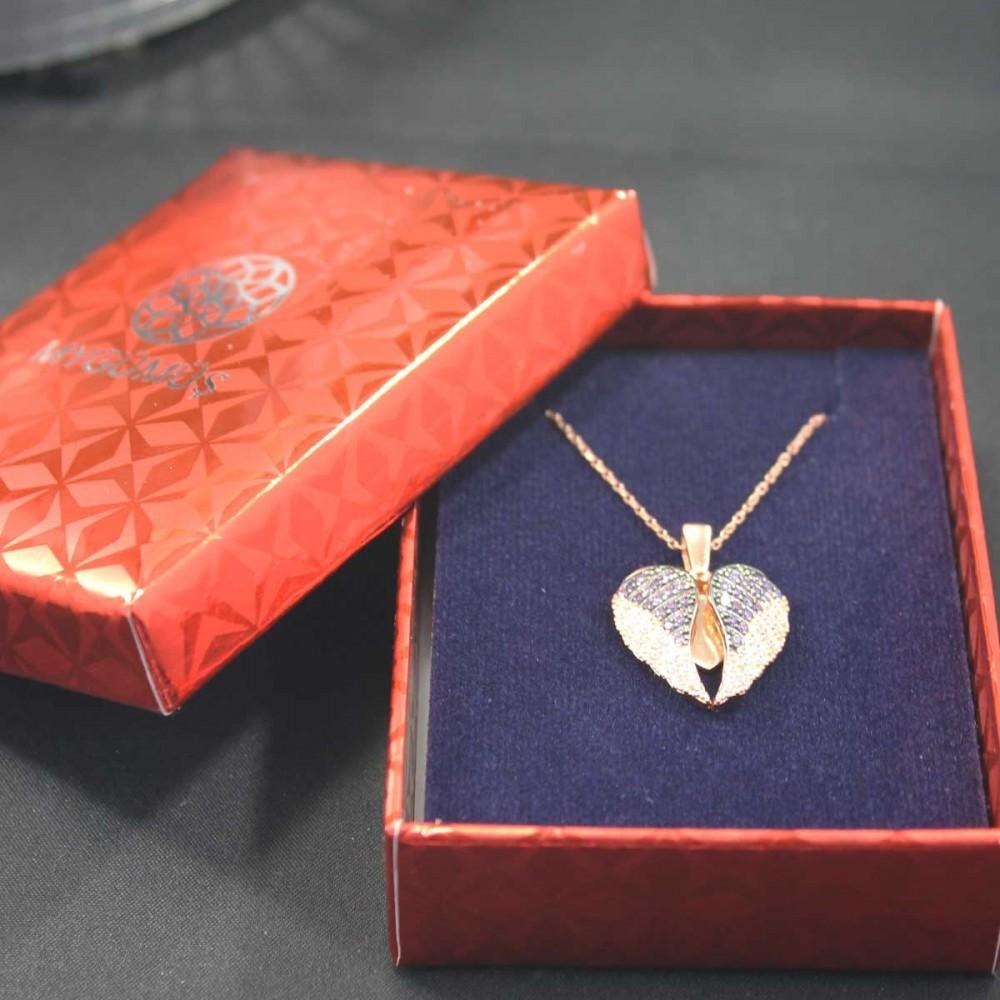 İsme Özel Kanatlı Gümüş Kalp Kolye MY101297 10453 Thumb