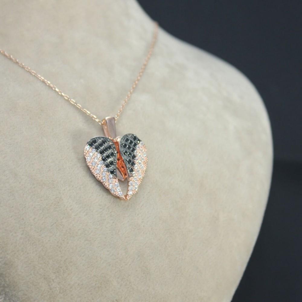 İsme Özel Kanatlı Kalp Gümüş Kolye MY03010144 10448 Thumb