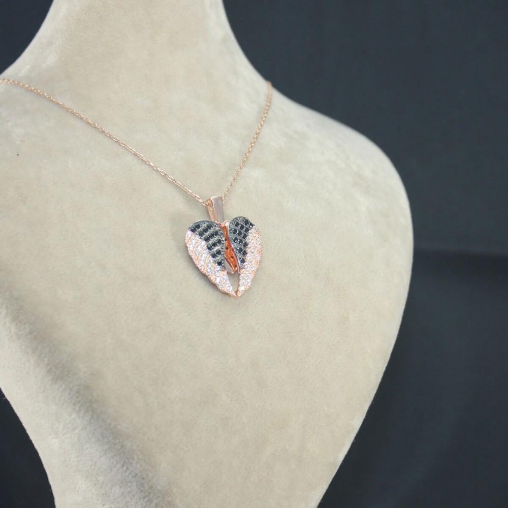 İsme Özel Kanatlı Kalp Gümüş Kolye MY03010144 10450 Thumb