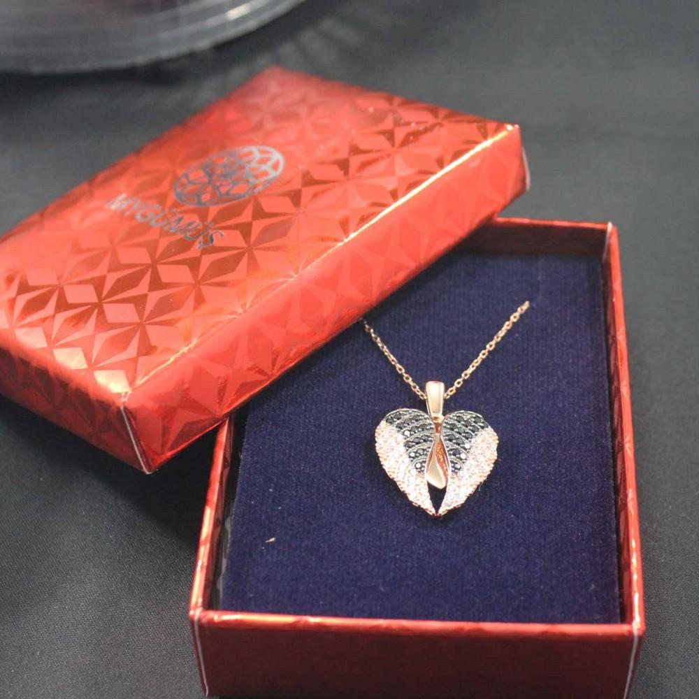 İsme Özel Kanatlı Kalp Gümüş Kolye MY03010144 10451 Thumb