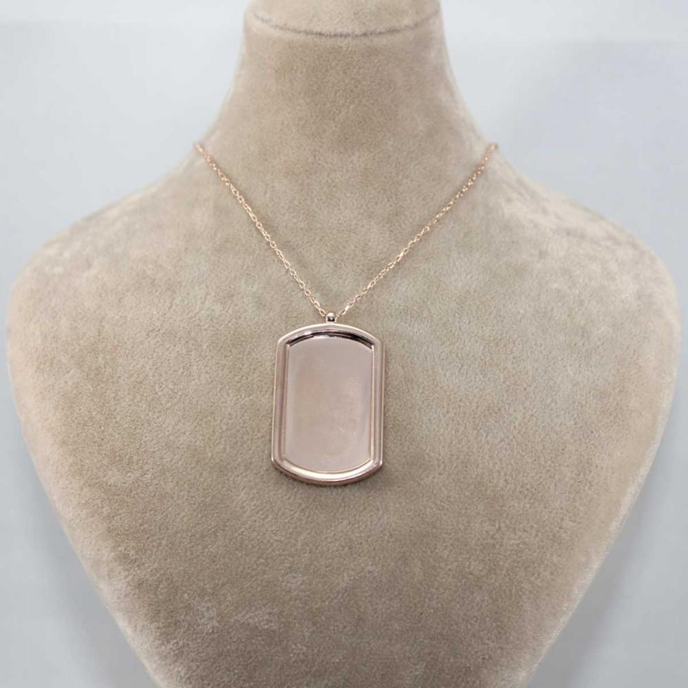 İsme Özel Plaka Gümüş Kolye MY101320 9156 Thumb