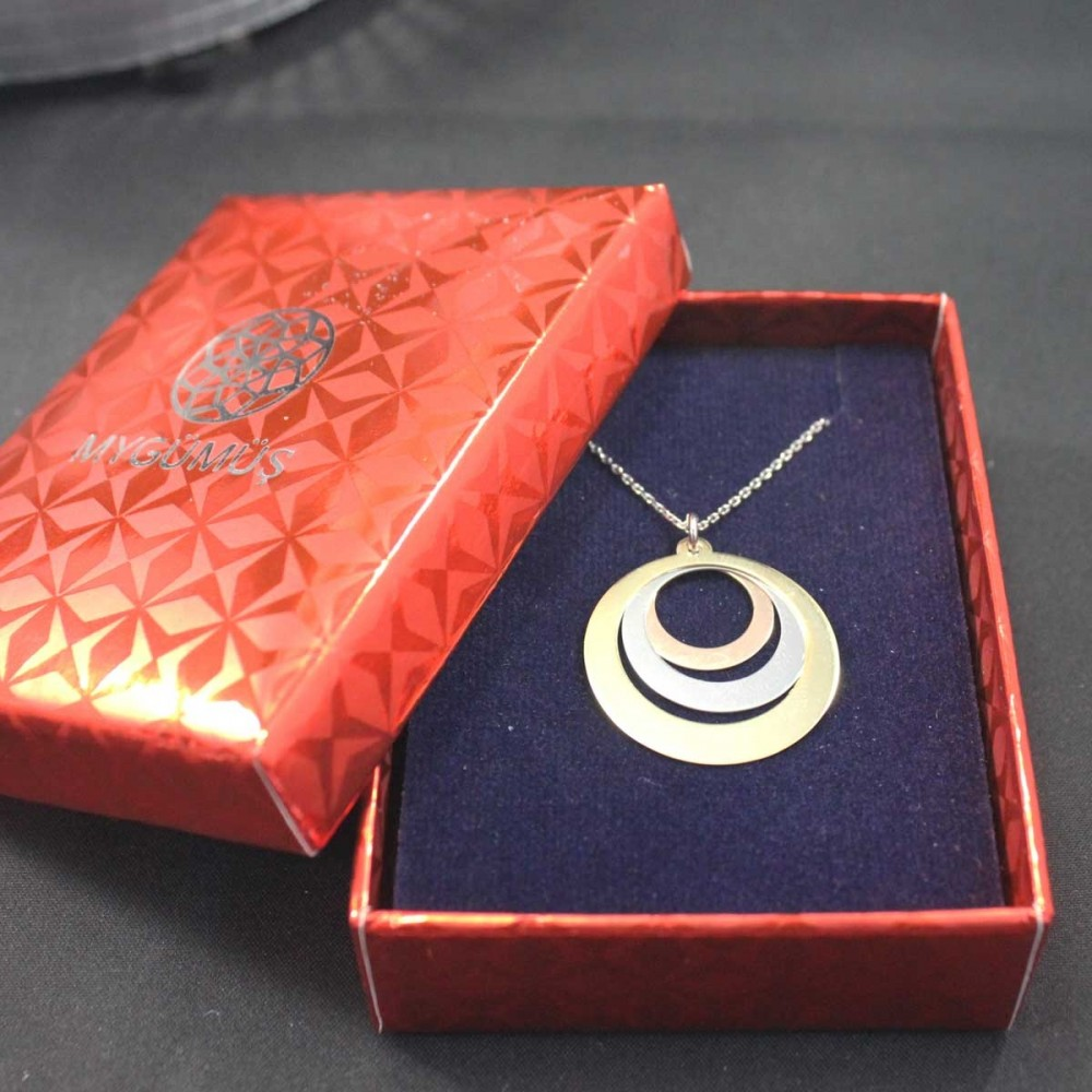 İsme Özel Renkli Halkalar Gümüş Kolye MY101665 10481 Thumb
