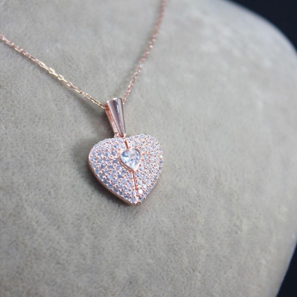 İsme Özel Sihirli Kalp Gümüş Kolye MY101442 10307 Thumb