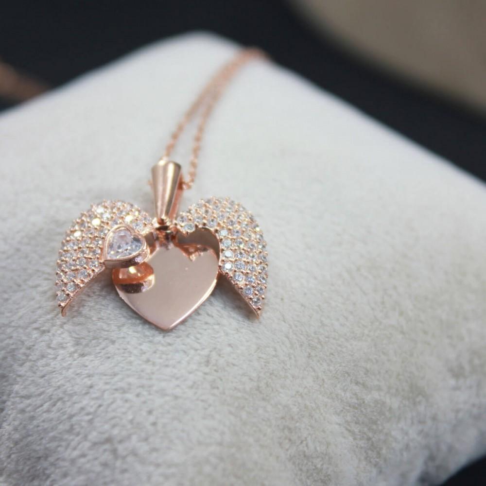 İsme Özel Sihirli Kalp Gümüş Kolye MY101442 10304 Thumb