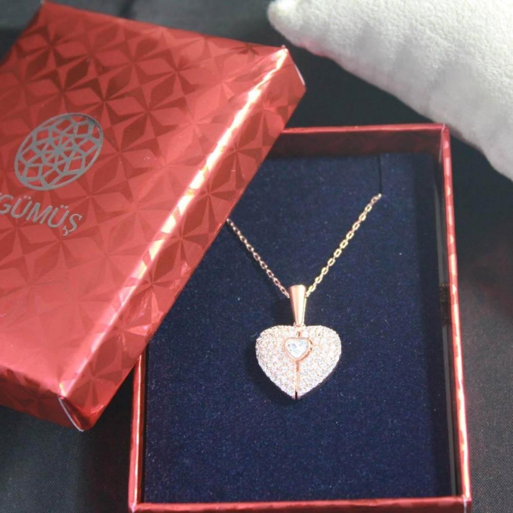İsme Özel Sihirli Kalp Gümüş Kolye MY101442 10306 Thumb