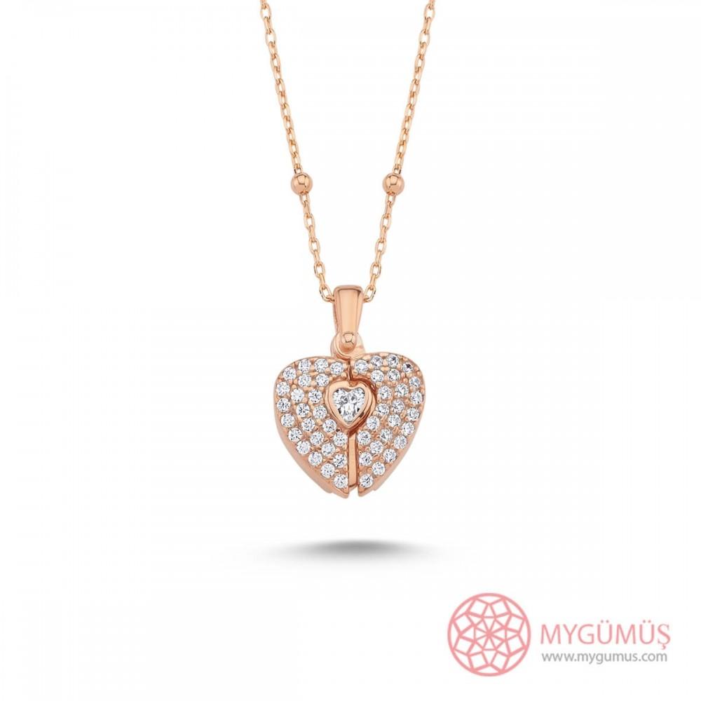 İsme Özel Sihirli Kalp Gümüş Kolye MY101726 10194 Thumb