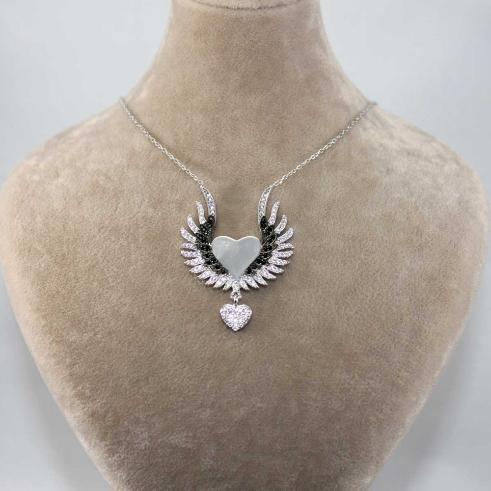 İsme Özel Sihirli Kanatlar Gümüş Kolye MY101261 8929 Thumb